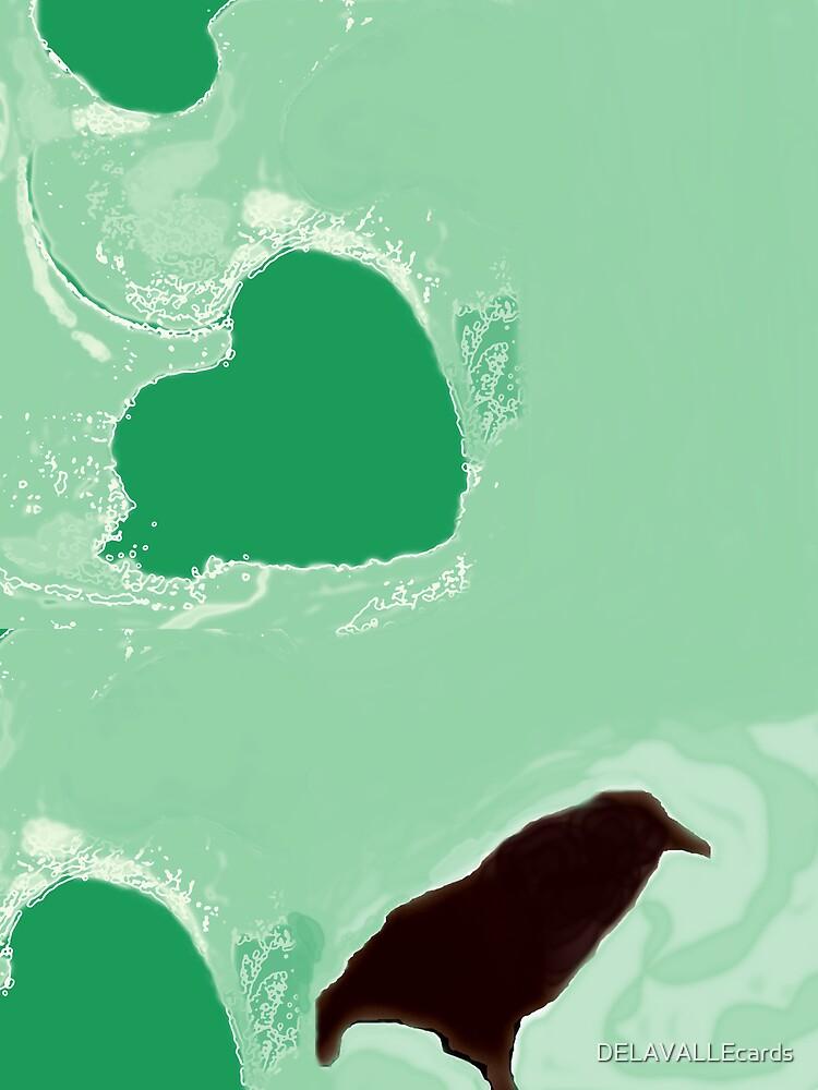 Hearts+Crow by DELAVALLEcards