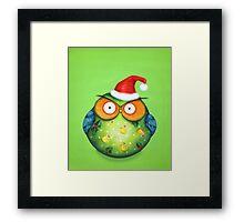 Funny Santa Owl Framed Print