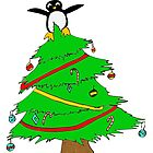 Penguin at the top of the Xmas tree by drknice