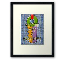 KEY TO HAPPINESS Framed Print