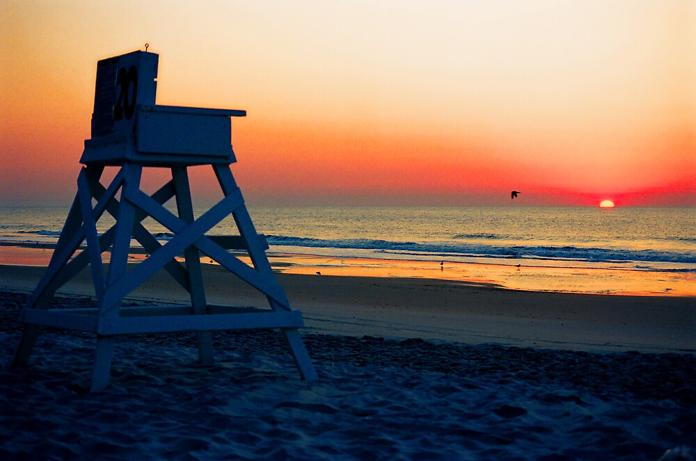 Lifeguard Stands by Susan Zohn