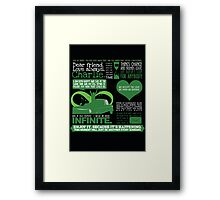 The Perks of Quotes Framed Print