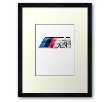 BMW E39 M5 Overlay Framed Print