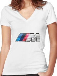 BMW E39 M5 Overlay Women's Fitted V-Neck T-Shirt