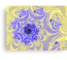 Blue & Yellow Fractal Canvas Print