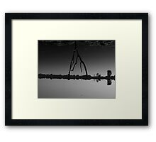 the force of gravity  Framed Print