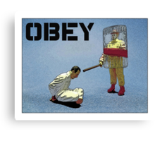 """'Obey' from the series """"Fast Food Turf War"""" by Tim Constable  Canvas Print"""
