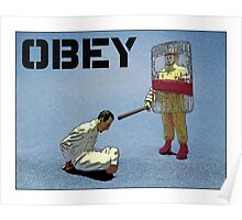 """'Obey' from the series """"Fast Food Turf War"""" by Tim Constable  Poster"""