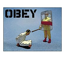 """'Obey' from the series """"Fast Food Turf War"""" by Tim Constable  Photographic Print"""
