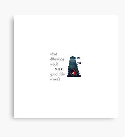 I am not a Dalek Canvas Print