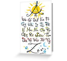 ABC's Greeting Card