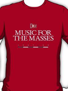 Depeche Mode : Music For The Masses Logo 3 White T-Shirt
