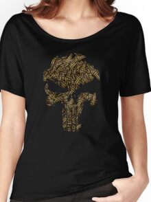Lead Lined Skull: Punisher Women's Relaxed Fit T-Shirt
