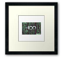 the 100 cw Framed Print