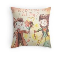 Doctor Who Valentine - Be Mine For All Time Throw Pillow