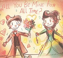 Doctor Who Valentine - Be Mine For All Time by Longfallof1979