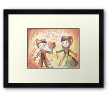 Doctor Who Valentine - Be Mine For All Time Framed Print