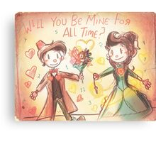 Doctor Who Valentine - Be Mine For All Time Canvas Print