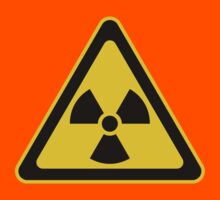 Radioactive Symbol Warning Sign - Radioactivity - Radiation - Yellow & Black - Triangular Kids Clothes