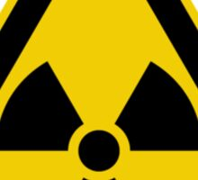 Radioactive Symbol Warning Sign - Radioactivity - Radiation - Yellow & Black - Triangular Sticker