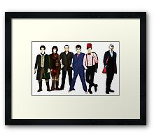 Doctor Who - The Six Doctors Framed Print