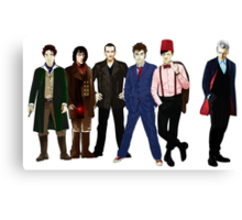 Doctor Who - The Six Doctors Canvas Print