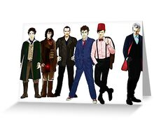 Doctor Who - The Six Doctors Greeting Card