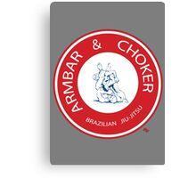 Armbar & Choker BJJ Canvas Print