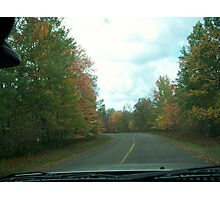 Country Road - Autumn Photographic Print