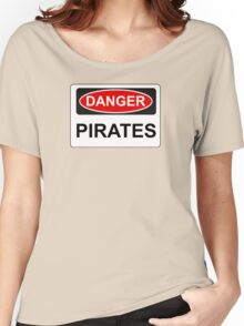Danger Pirates - Warning Sign Women's Relaxed Fit T-Shirt
