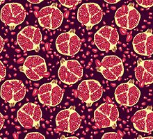pomegranate pattern by smalldrawing