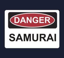 Danger Samurai - Warning Sign Kids Tee
