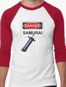 Danger Samurai - Warning Sign & Katana or Sword T-Shirt