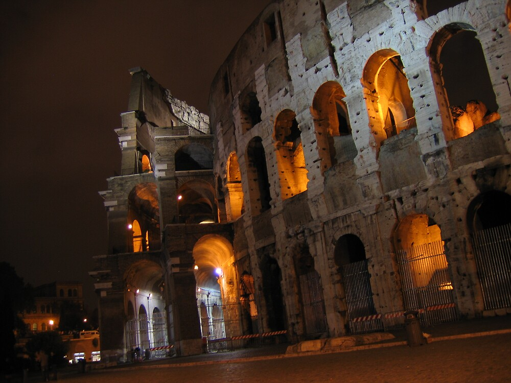 Colosseum by night by Lambros
