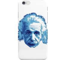 Albert Einstein - Theoretical Physicist - Blue iPhone Case/Skin