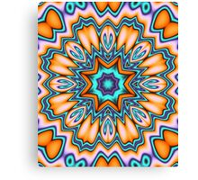 Decorative Sunshine Kaleidoscope Flower Canvas Print
