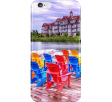 The dock at Blue Mountain iPhone Case/Skin