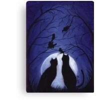 Listen to the Silence at Night Canvas Print