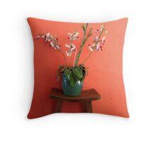Asian flowers Throw Pillow