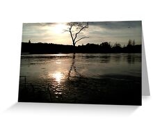 Riverside silhouette Greeting Card