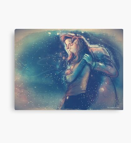 Let's Stay for Christmas Canvas Print