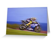 Rossi wins again. Phillip Island Oct 2004 Greeting Card