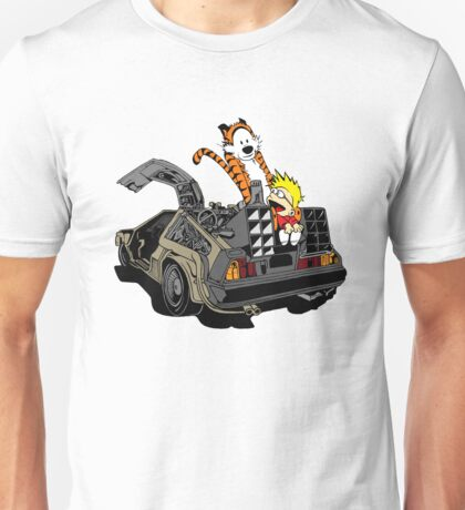 CALVIN AND HOBBES DELOREAN Unisex T-Shirt