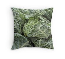 Savoy Cabbages Throw Pillow