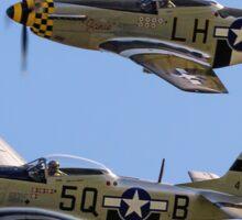 "Maurice Hammond's P-51D Mustangs ""Marinell"" & ""Janie"" Sticker"