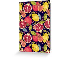 Mysterious tropical garden. Greeting Card