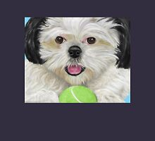 Black and White Shih Tzu Pillow with Tennis Ball Unisex T-Shirt
