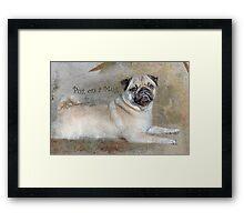 Pug on a Mug #1 Framed Print