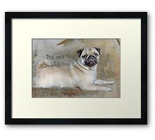 Pug on a Mug #1 Framed Print