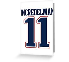 Julian Edelman - Incredelman Greeting Card